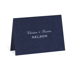 Navy - Foil Note Card and Envelope