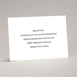 Bright White - Reception Card - Thermography