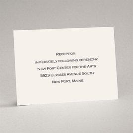 Ecru - Reception Card