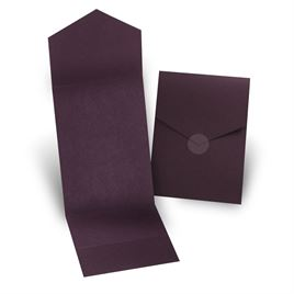 Eggplant Invitation Pocket