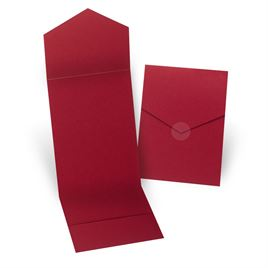 Merlot Invitation Pocket