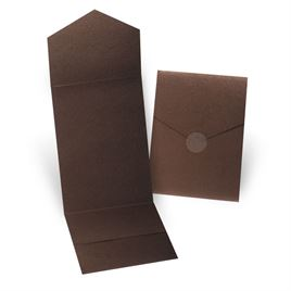 Brown Shimmer Invitation Pocket