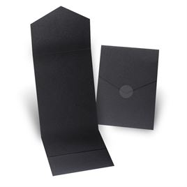Black Shimmer Invitation Pocket