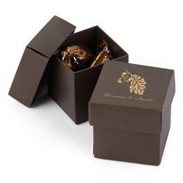 Brown Two-Piece Favor Boxes