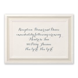 Beautifully Framed - Ecru - Reception Card