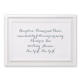 Beautifully Framed - Reception Card