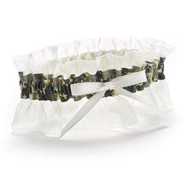 Wedding Garters: Ruffled Camouflage Wedding Garter