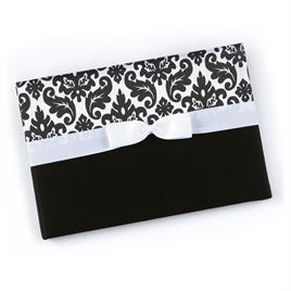 Elegant Black Damask Guest Book