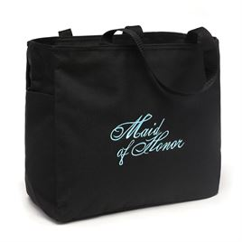 Wedding Bags  Totes: Embroidered Maid of Honor Tote Bag