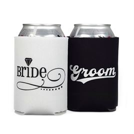Bride and Groom Can Coolers
