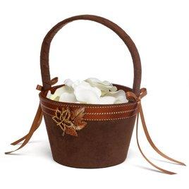 Wedding Flower Girl Baskets: Fall Charm Flower Basket