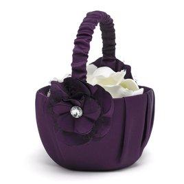 Floral Glam Flower Basket - Eggplant