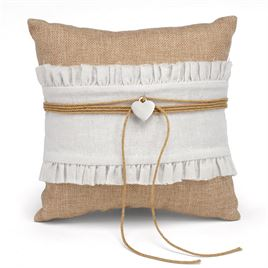 Ring Bearer Pillows: Burlap Beauty Ring Pillow