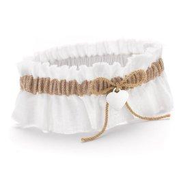 Wedding Garters: Burlap Beauty Wedding Garter