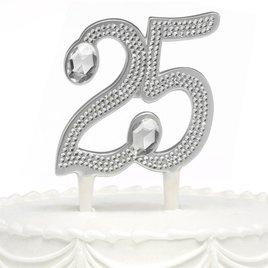 25th Anniversary Rhinestone Cake Pick
