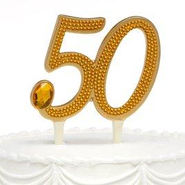 50th Anniversary Rhinestone Cake Pick