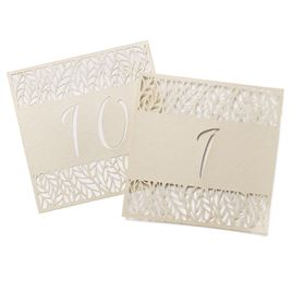 Organic Leaves Table Number Cards 1-10