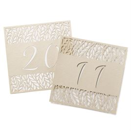 Organic Leaves Table Number Cards 11-20