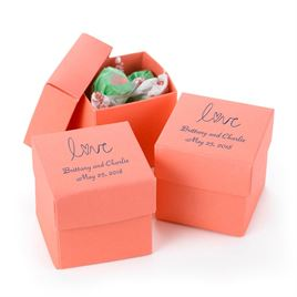 Coral Two-Piece Favor Boxes