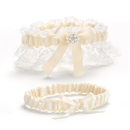 Simply Splendid - Wedding Garter Set