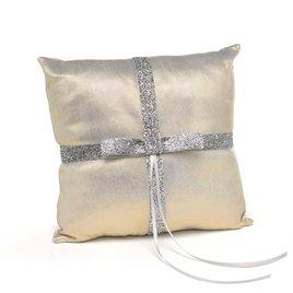 Ring Bearer Pillows: Metallic Sparkle Ring Pillow