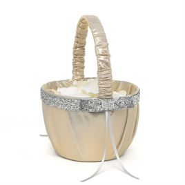 Metallic Sparkle Flower Basket