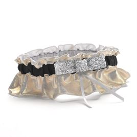 Wedding Garters: Metallic Sparkle Wedding Garter
