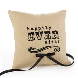 Ring Bearer Pillows: Happily Ever After Linen Ring Pillow