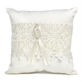 Sentimental Lace Ring Pillow