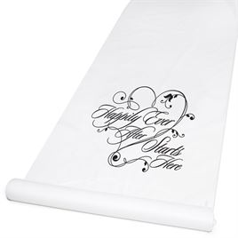 Happily Ever After Aisle Runner White