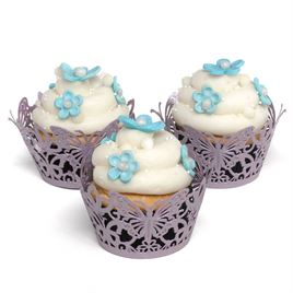 Lavender Butterfly Cupcake Wraps