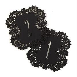 Black Laser Cut Table Number Cards 1 10