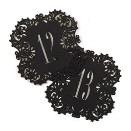 Black Laser Cut Table Number Cards 11-20