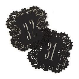 Black Laser Cut Table Number Cards 31 40