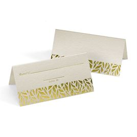 Organic Leaves Place Cards