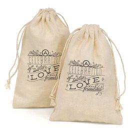 Celebration of Love - Cotton Favor Bags