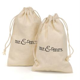 Mr. & Mrs. - Cotton Favor Bags