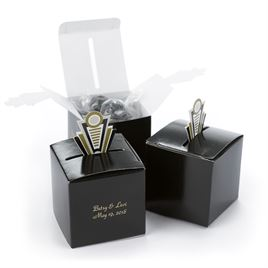 Art Deco Pop-Up Favor Boxes - Gold
