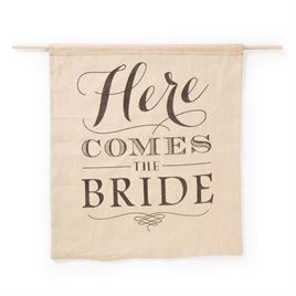 "Rustic ""Here Comes the Bride"" Sign"
