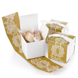 Rustic Lace Wrap Favor Boxes