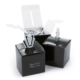 Art Deco Pop-Up Favor Boxes - Silver