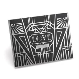 Art Deco Guest Book - Silver