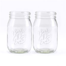 Rustic Vines Drinking Jars