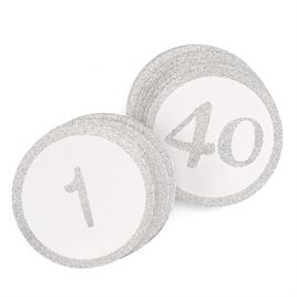 Silver Glitter Table Cards