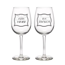 Stripes Galore Wine Glasses