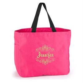 Fuchsia Flourish Tote Bag