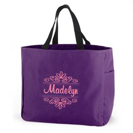 Purple Flourish Tote Bag