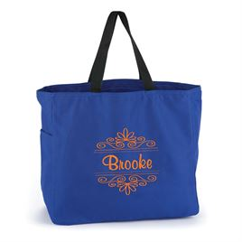 Blue Flourish Tote Bag