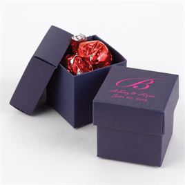 Navy Two-Piece Favor Boxes