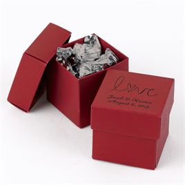 Red Two-Piece Favor Boxes